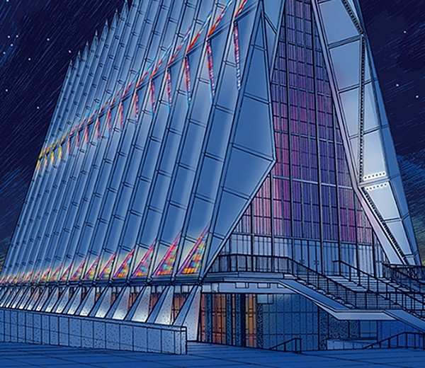 USAF Cadet Chapel, Colorado
